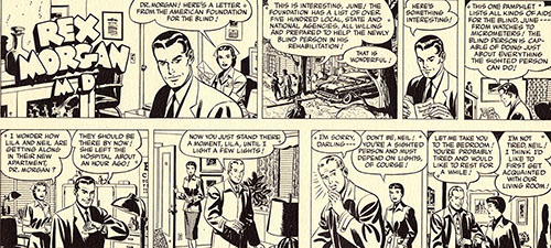 Reprint of part of an episode from a newspaper comic strip series